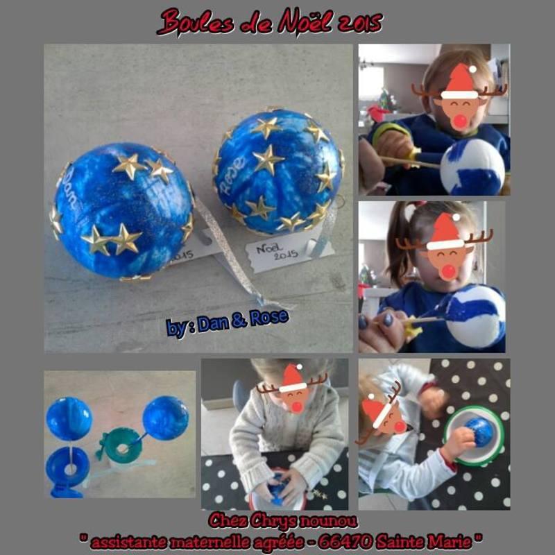 Boules de no l 2015 for Boules de noel a decorer